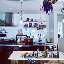 キッチン/DIY女子/100きん/インテリア/キッチンカウンターDIY...などのインテリア実例 - 2019-04-13 22:06:11