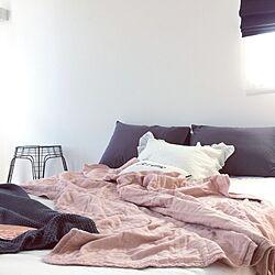 ベッド周り/北欧インテリア/ホワイトインテリア/モノトーンインテリア/寝室...などのインテリア実例 - 2017-06-19 17:17:35