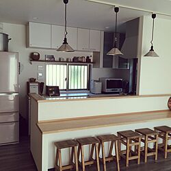 キッチン/飾り棚/背面収納/後藤照明/DIY椅子...などのインテリア実例 - 2016-05-23 14:36:39