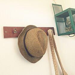 玄関/入り口/見せる収納/蛇口のパーツ/カバン掛け/帽子掛け...などのインテリア実例 - 2016-05-18 15:11:34