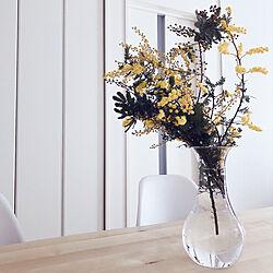 花瓶が無い・・・/花瓶に花を.+*:゚+。.☆/センスをください/春が待ち遠しい♡/旦那はさすがに気付くかな?...などのインテリア実例 - 2021-02-16 15:12:23