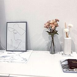 棚/アートポスター/モノトーン/ホワイトインテリア/大理石...などのインテリア実例 - 2018-11-12 17:53:56