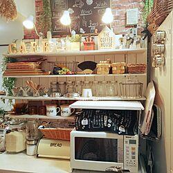 キッチン/カフェ風/白/セリア/ダイソー...などのインテリア実例 - 2016-04-14 20:18:07
