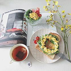 キッチン/器/オンシジウム/サラダ/tea time...などのインテリア実例 - 2018-04-18 12:43:52
