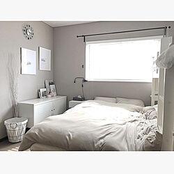 グレージュインテリア/ニトリ/建売住宅/IKEA/ベッド周りのインテリア実例 - 2020-05-03 17:55:48
