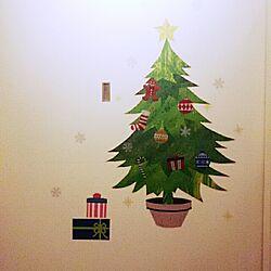 壁/天井/賃貸/一人暮らし/クリスマス♡/3coinsのウォールステッカー...などのインテリア実例 - 2014-11-17 22:56:46