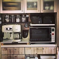 キッチン/デロンギコーヒーメーカー/コーヒーメーカー/IKEA/100均...などのインテリア実例 - 2018-04-01 18:36:05