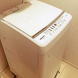 洗濯機/一人暮らし/ホワイトインテリア/バス/トイレのインテリア実例 - 2021-04-15 19:30:55