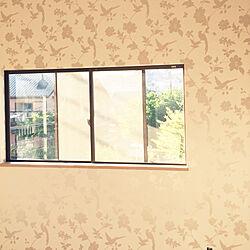 ベッド周り/ローラアシュレイの壁紙/ナチュラル/IKEA/リフォライフのインテリア実例 - 2017-08-20 02:19:31