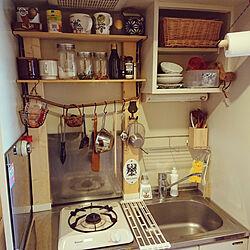キッチン/1K/一人暮らし/DIY/ラブリコのインテリア実例 - 2019-09-07 13:39:52