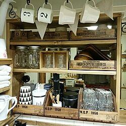 キッチン/DIY/見せる収納/Mason Jar/nico and......などのインテリア実例 - 2015-06-06 21:52:18