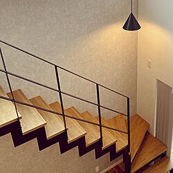 リビング/階段照明/吹抜け/アクセントクロス/スケルトン階段...などのインテリア実例 - 2020-05-20 20:19:08