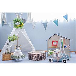 IKEA/ニトリのクッション/MARLMARL/おうちスタジオ/1歳誕生日...などのインテリア実例 - 2019-04-29 01:20:01