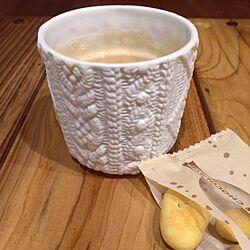 机/編み模様のカップ/ひとめぼれ/コーヒータイム/ホワイト...などのインテリア実例 - 2015-01-20 20:02:04