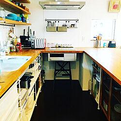 コンロ/無印良品/食器棚/キッチンカウンター/キッチン収納...などのインテリア実例 - 2019-10-24 12:36:53