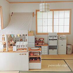 部屋全体/カラーボックスリメイク/和室をキッズスペースに/和室/ままごと冷蔵庫DIY...などのインテリア実例 - 2018-05-25 14:40:34
