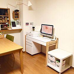 机/MacBook/プリンター/壁に付けられる家具/OLYMPUS PEN...などのインテリア実例 - 2016-09-18 02:46:53