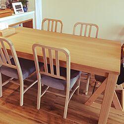 机/IKEAのティッシュカバー/天然木/天然木のダイニングテーブル/actus椅子...などのインテリア実例 - 2017-02-24 11:37:13
