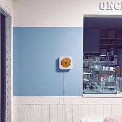 壁/天井/ブルーグレーの壁/ブルーグレー/セリア新商品/セリアリメイクシート...などのインテリア実例 - 2018-05-16 23:50:41