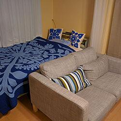 ベッド周り/IKEA/ハワイアンキルトのインテリア実例 - 2018-09-23 21:54:49