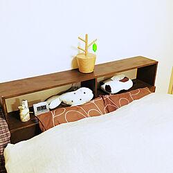 ベッド周り/シンプル/DIY/雑貨/ハンドメイド...などのインテリア実例 - 2018-01-08 20:44:51