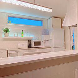 建売住宅diy/クッションフロアDIY/キッチン背面/間接照明/建売住宅をおしゃれに...などのインテリア実例 - 2021-03-15 18:05:50