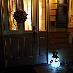 玄関/入り口/メリクリ/クリスマスディスプレイ/スノーマン/クリスマス...などのインテリア実例 - 2020-12-06 21:14:02