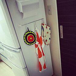 キッチン/マリメッコ/冷蔵庫/キッチン収納/収納...などのインテリア実例 - 2014-03-21 09:44:17