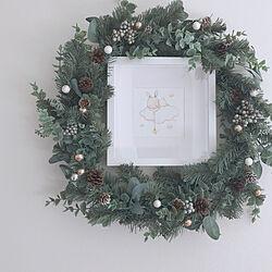 棚/うさぎ/クリスマス/クリスマスリース/IKEAのインテリア実例 - 2018-11-08 15:16:43