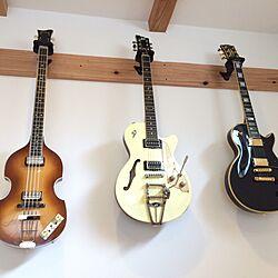 壁/天井/BEATLES/楽器/ギター/Gibson...などのインテリア実例 - 2015-07-04 18:33:11