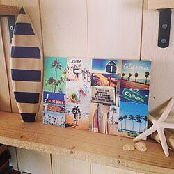 部屋全体/カリフォルニア/流木/シェル/surf...などのインテリア実例 - 2015-02-06 13:15:21