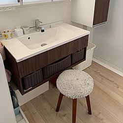 洗面所棚/洗面所 収納/大工さんありがとうございます/バス/トイレのインテリア実例 - 2020-05-30 15:08:16