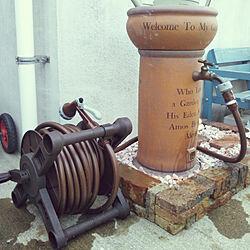 玄関/入り口/ホースリール/レンガ/立水栓/散水栓...などのインテリア実例 - 2018-03-28 17:25:25