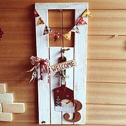 玄関/入り口/クリスマス/スノーマン/手作り雑貨のインテリア実例 - 2013-11-01 13:34:25