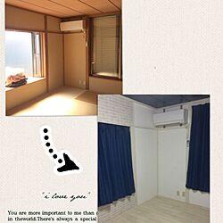 部屋全体/白のチカラ/和室を洋室に /DIY/漆喰のインテリア実例 - 2016-08-20 21:56:53