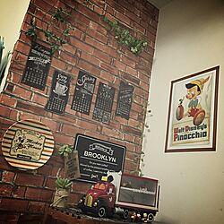 壁/天井/ディズニー/フェイクグリーン/男前/ミッキーマウス...などのインテリア実例 - 2016-05-02 21:51:16