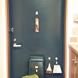 玄関/入り口/ドライフラワー/一人暮らし/ちりとり/ほうき...などのインテリア実例 - 2014-03-30 19:14:58