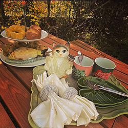 猫ちゃまの調味料入れ/猫ちゃま系/フェイクスイーツ/おうち花見/庭...などのインテリア実例 - 2021-03-31 06:57:03