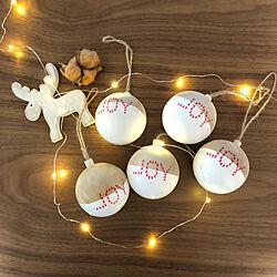 机/クリスマスオーナメント/カインズホーム/クリスマス/いつもいいねやコメありがとうございます♡...などのインテリア実例 - 2018-12-23 19:27:56