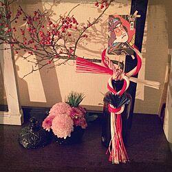 棚/手作りお飾り/水引/お飾り/正月飾り...などのインテリア実例 - 2013-12-30 16:14:01