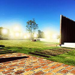 土間横/焚き火台/枕木/シマトネリコの木/芝生の庭...などのインテリア実例 - 2019-09-23 14:48:43