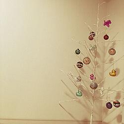 リビング/白い部屋/クリスマスツリー/ホワイトツリー/ホワイトインテリア...などのインテリア実例 - 2018-11-17 18:04:44