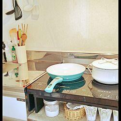 キッチン/KEVNHAUNフライパン/dansk鍋/IH周辺/IHクッキングヒーター...などのインテリア実例 - 2016-01-21 18:07:11