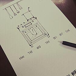 机/カレンダー/妄想が暴走(・ิω・ิ)/THE☆現実逃避/DIY...などのインテリア実例 - 2014-11-12 21:19:52