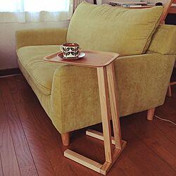 リビング/サイドテーブル/ソファ/DIY/木...などのインテリア実例 - 2014-05-11 09:45:50