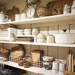 キッチン/スタジオ M/スタジオエム/食器/DIY板壁...などのインテリア実例 - 2014-07-09 19:31:14