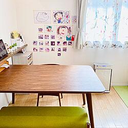 リビング/子供の写真/子供の絵/ベンチシート/ダイニングテーブル&チェア...などのインテリア実例 - 2020-10-12 22:18:16