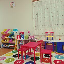 部屋全体/こどもと暮らす。/子供部屋 /IKEA/子供部屋はカラフル...などのインテリア実例 - 2016-01-07 15:25:18