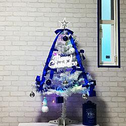レンガ風/レンガ壁紙/白いクリスマスツリー/クリスマス/クリスマス...などのインテリア実例 - 2017-11-14 06:45:21