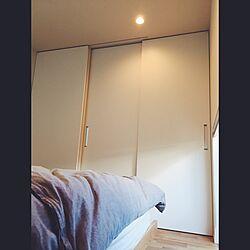 ベッド周り/オークの床/ニトリのベッド/ニトリ布団カバー/神谷コーポレーション...などのインテリア実例 - 2017-05-28 09:37:25